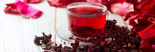 em formato de chá