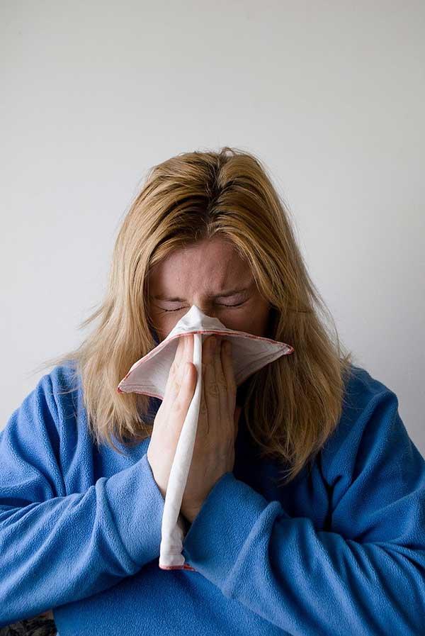 alergia de um resfriado